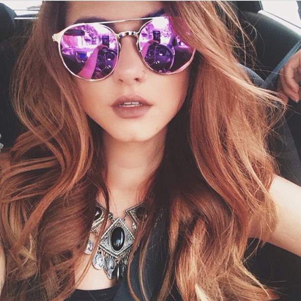 sunglasses style fashion purple