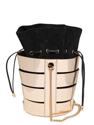 metallic bag bucket bag gold black