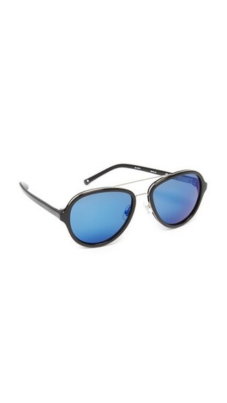 sunglasses aviator sunglasses blue black