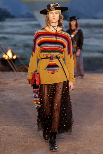 skirt dior cruise collection dior maxi skirt long skirt see through see through skirt sweater printed sweater bag red bag hat boots flat boots