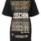 Moschino - foil print t-shirt dress - women - cotton/other fibres - 44, black, cotton/other fibres