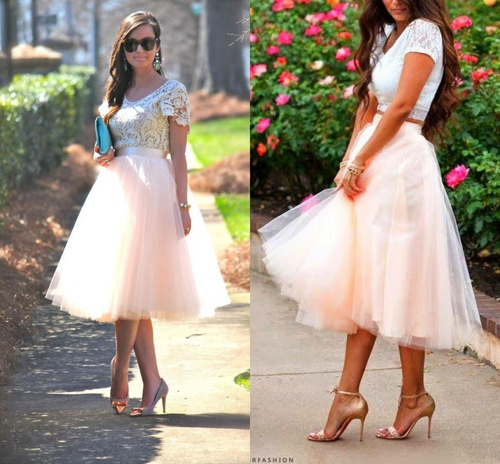 Wholesale Tea Length Tutu Skirt Party Dresses For Women Tiered Short Bridesmaid Ruffle Plus Size