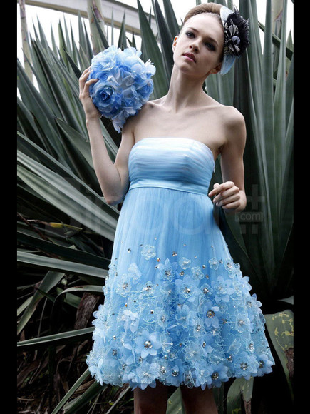 dress homecoming sleeveless strapless tulle