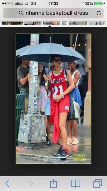dress red basketball dress