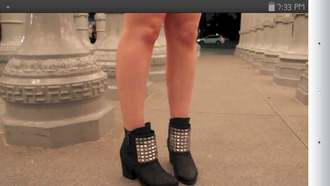 booties studs celebrity style