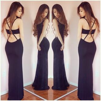 dress zooshoo zooshoo clothing maxi dress black maxi dress strappy dress long dress black dress formal dress