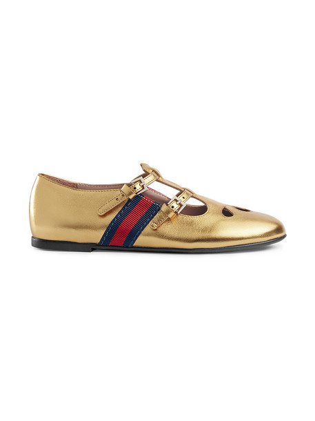 Gucci Kids metallic shoes leather grey