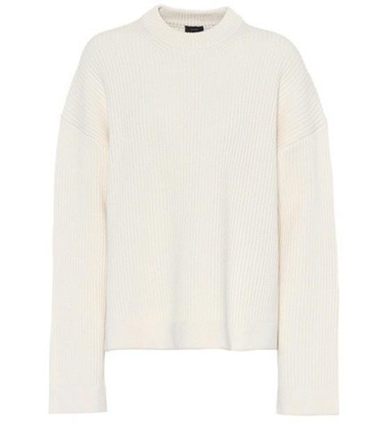 Joseph sweater cotton wool white