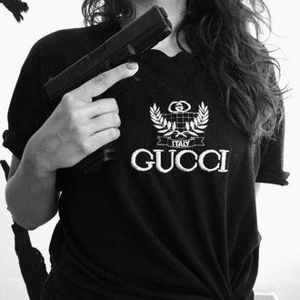 t-shirt gucci black tee shirt black t-shirt italy t-shirt black shirt