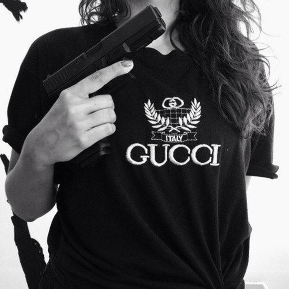 black tee shirt t-shirt gucci black t-shirt