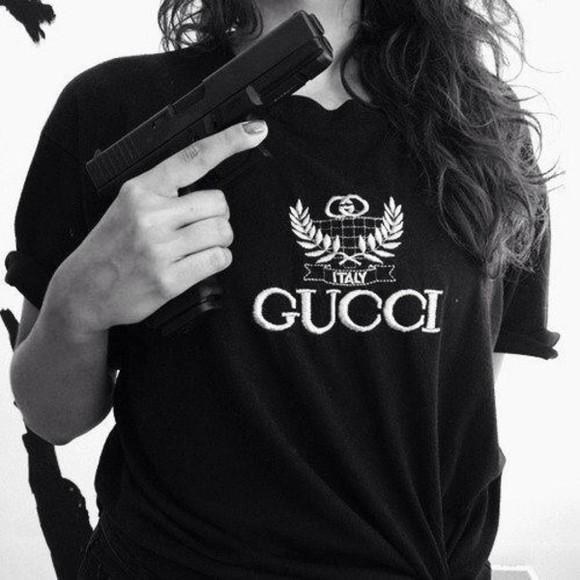 t-shirt black tee shirt gucci black t-shirt black italy t-shirt