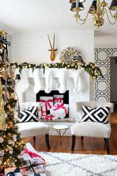 home accessory,christmas home decor,christmas,home decor,holiday home decor,holiday season,chair,decoration,pillow,tumblr