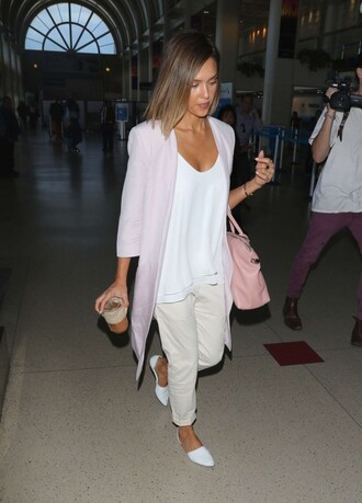 shoes top flats cardigan jessica alba pants