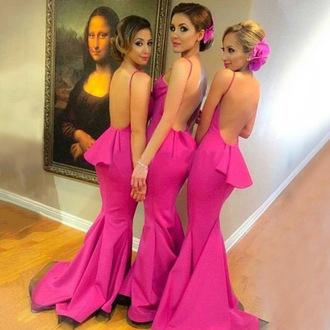 dress prom prom dress pink pink dress backless backless dress open back open back dresses mermaid maxi maxi dress trendy style stylish love wow neon bridesmaid long dress sexy long dresses sexy sexy dress fashion