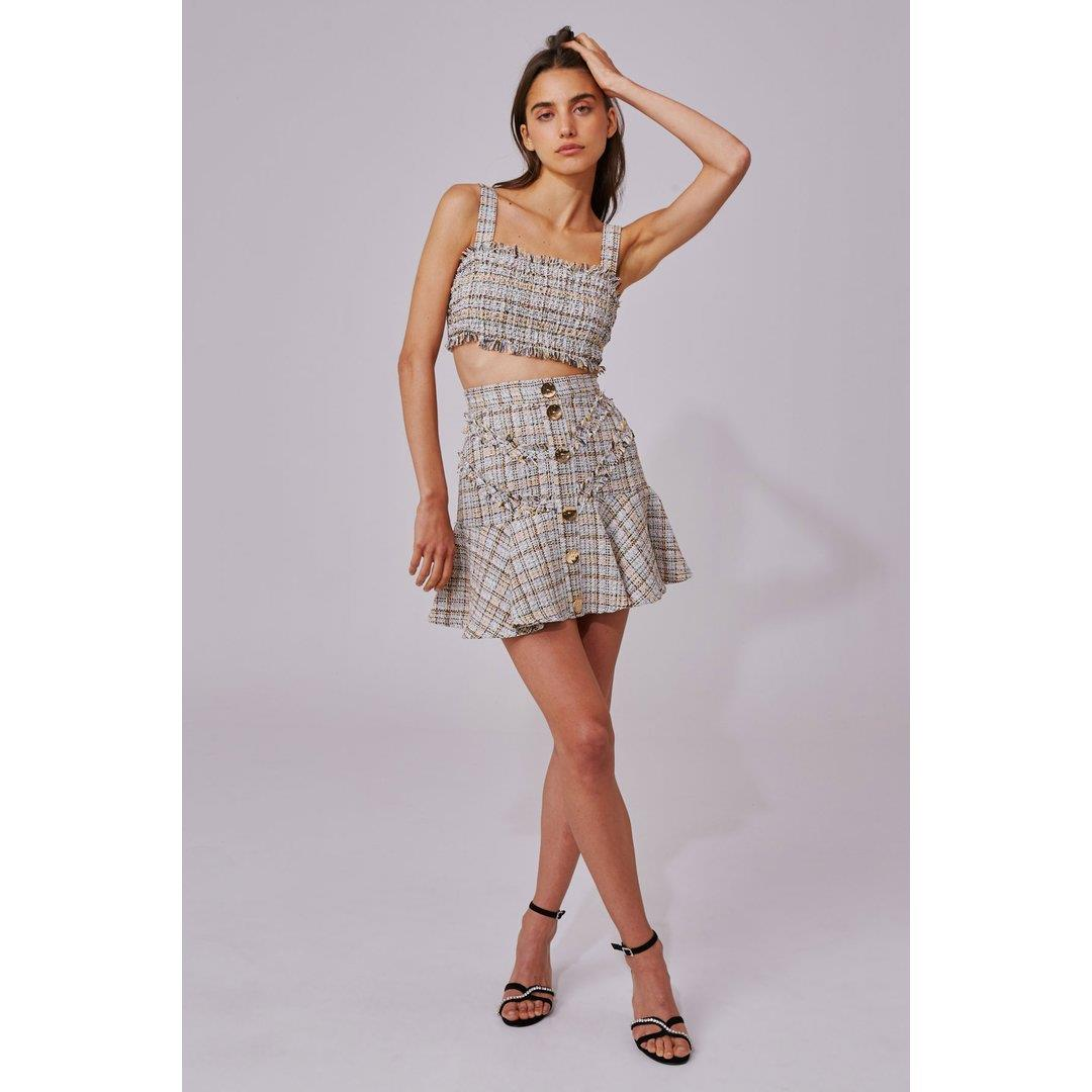 FOR YOUR LOVE SKIRT - IVORY TWEED