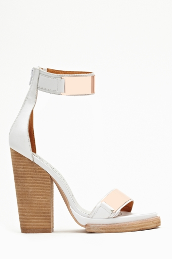 White leather in  shoes at nasty gal