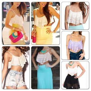 Lace Drape Shirt Bandeau Bustier Midriff Crop Top Bralette White Size s M | eBay
