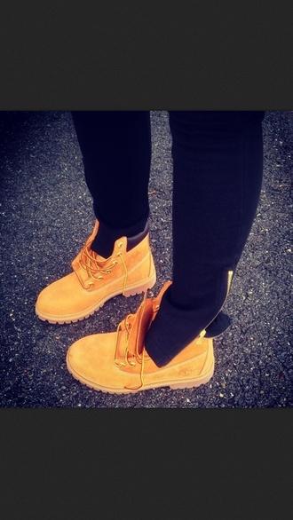 shoes booties tan timberlands pants tight cotton zip