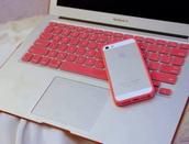 t-shirt,pink,fucsia,macbook,macbook case,apple,cute,girl,keyboard,stickers,keyboard sticker,iphone,iphone 5 case,cover,phone cover,iphone cover,jewels,iphone case,iphone 4 case,bumper,coral,top