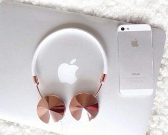 earphones apple beautifu headphones