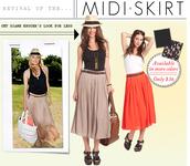midi skirt,diane kruger,brown skirt,skirt