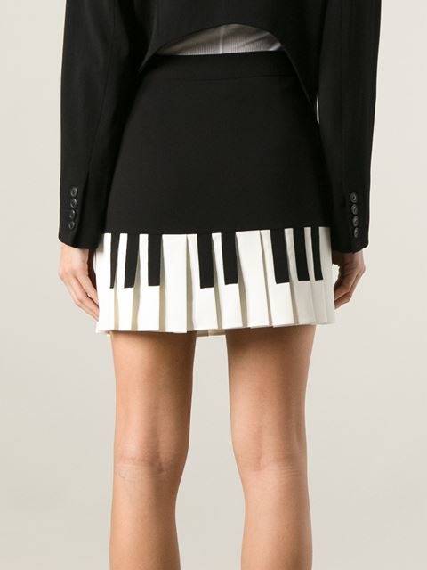 Moschino Cheap & Chic Pleated Piano Key Skirt - - Farfetch.com
