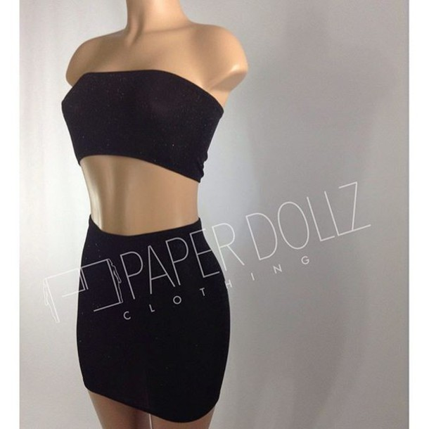 2d28af960e1ec6 skirt paperdollz clothing tube top tube dress mini skirt glitter dress  glitter top glitter skirt 2