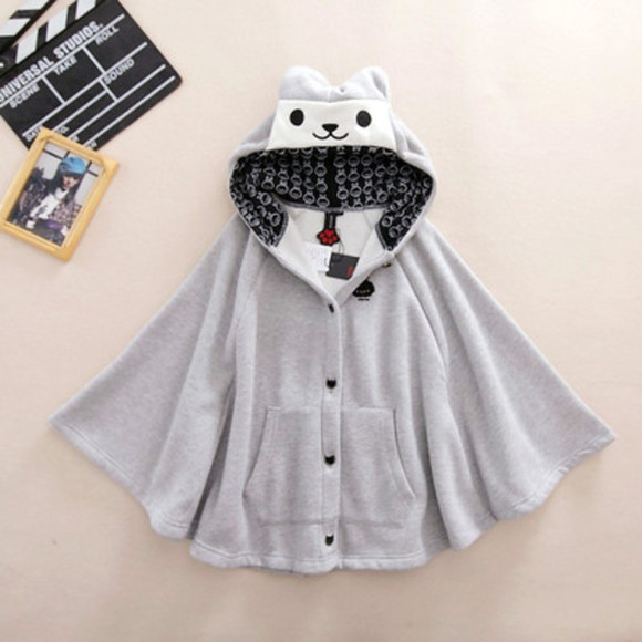 winter outfits cloak cats animal cardigan