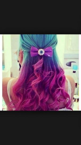 hair accessory purple eye bow
