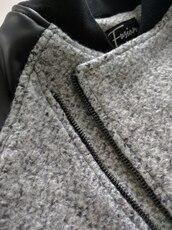 coat,wool,grey,streetwear,street goth,menswear,mens jacket,bomber jacket,mens bomber jacket