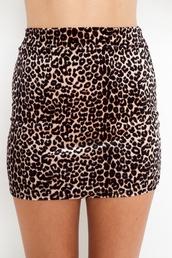 leopard print,bodycon,mini skirt,high waisted,skirt