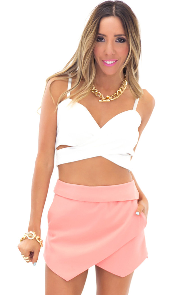 ANEX CRISS CROSS CROP TOP - White | Haute & Rebellious