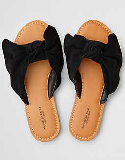 6af4fe7d12cd8 AEO Oversized Bow Slide Sandal