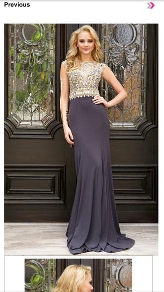 dress gray hot sexy dress prom dress prom gown long dress long sleeves long prom dress shorts sparkles jovani prom dress