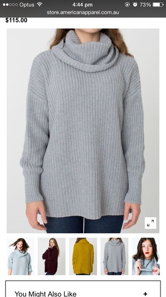 sweater knit turtleneck