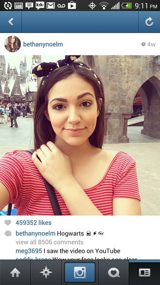 tank top head band bethany mota