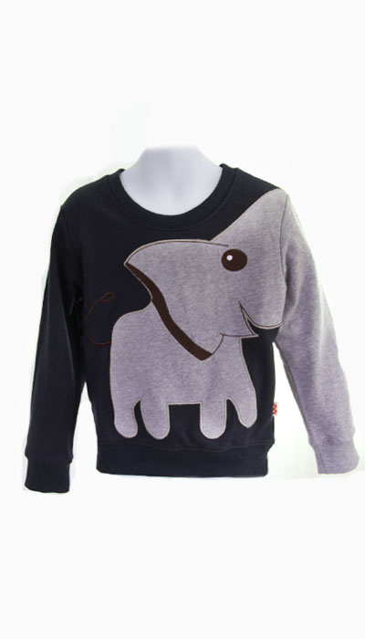 elephant navy sweatshirtMemena Kids