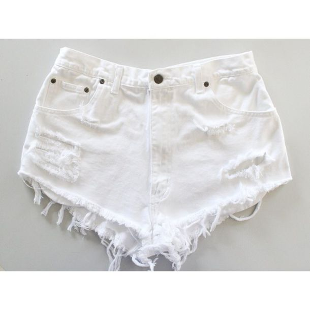 Shorts: short, pants, rips, ripped, high waisted, england, english ...