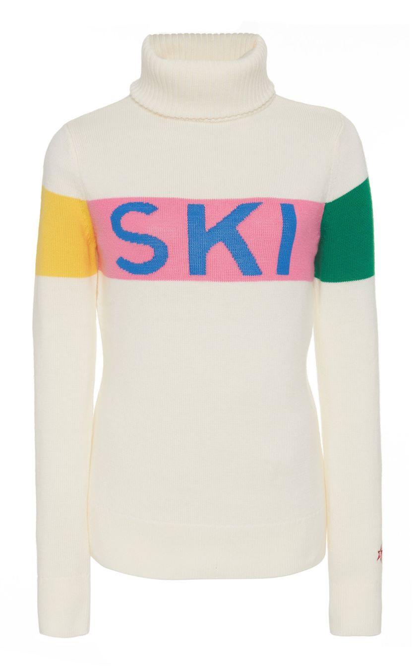 Perfect Moment Ski Intarsia-Knit Wool Sweater Size: S