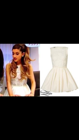 white dress ariana grande
