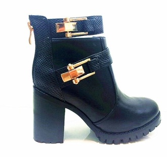 shoes fashion style ankle boots boots chelsea boots winter boots black boots gold buckle leather black boots leather boots cute topshop riverisland gold heels leather cute shoes