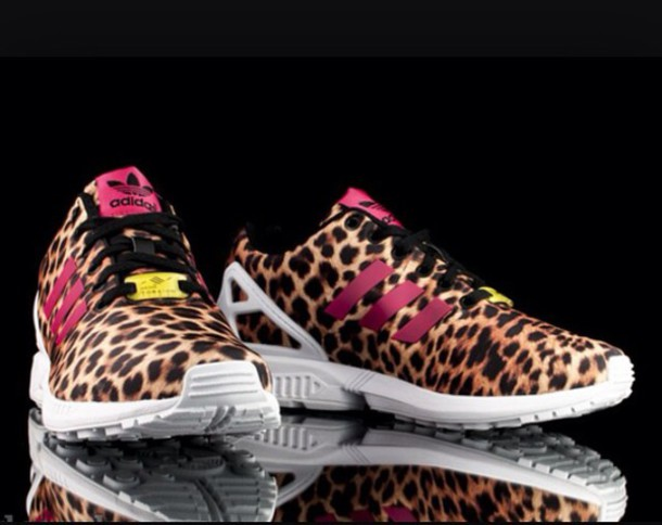 shoes nike shoes adidas zx flux leopard print wheretoget. Black Bedroom Furniture Sets. Home Design Ideas