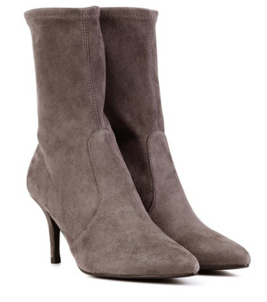 STUART WEITZMAN suede ankle boots ankle boots suede grey shoes