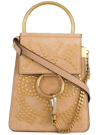 metal women bag crossbody bag leather nude