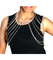 Silver layered chest body chain