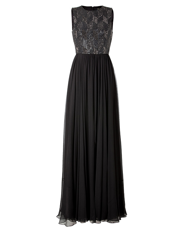 Silk Gown in Licorice from JENNY PACKHAM | Luxury fashion online | STYLEBOP.com
