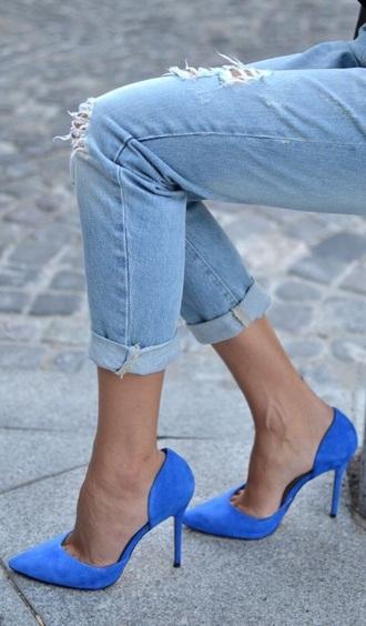 shoes high heels blue heels stilettos