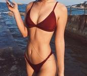 swimwear,red,bikini
