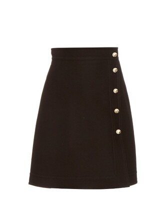 skirt mini skirt mini silk wool black