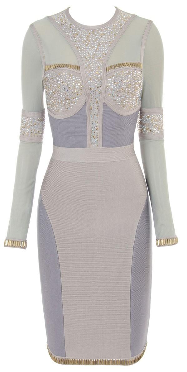 Robe moulante ornée de perles modèle Diva - irresistyle